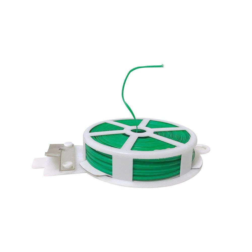 EachMay 2 Pack Garden Plant Ties with Cutter Plastic Garden Twist Tie to Fix Plant and Tie Cables Green, Total 358 Feet