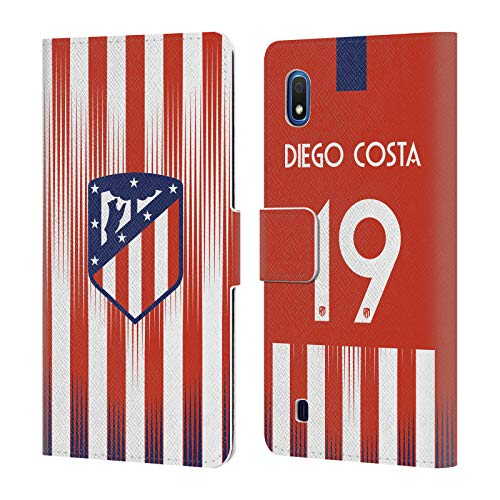 Official Atletico Madrid Diego Costa 2018/19 Players Home Kit Group 1 Leather Book Wallet Case Cover Compatible for Samsung Galaxy A10 (2019)