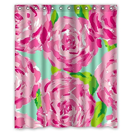 Lilly Pulitzer Pink Prints Flower Custom Shower Curtain 60quot