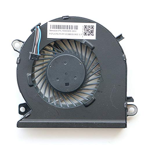 Replacement CPU Cooling Fan Compatible with HP Pavilion 15-CBXXX, 15-CB011TX 15-CB009TX 15-CB008TX 15-CB035WM 15-CB046WM 15-CB077CL 15-CB041NR 15-CB042NR 15-CB059NR Series Laptop P/N: 930589-001