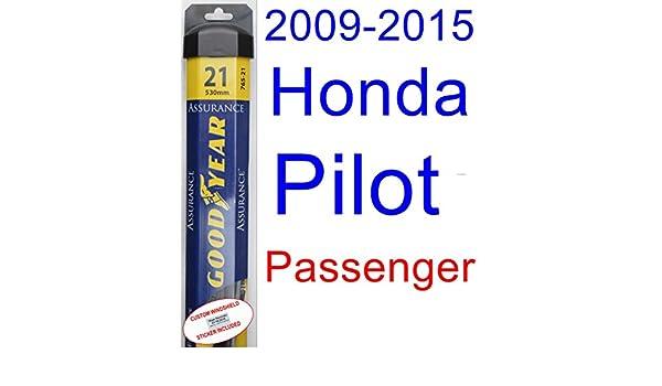Amazon.com: 2009-2015 Honda Pilot Wiper Blade (Passenger) (Goodyear ...