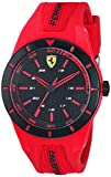 Ferrari Men's RedRev Stainless Steel Quartz Watch with Rubber Strap, red, 20 (Model: 840005)