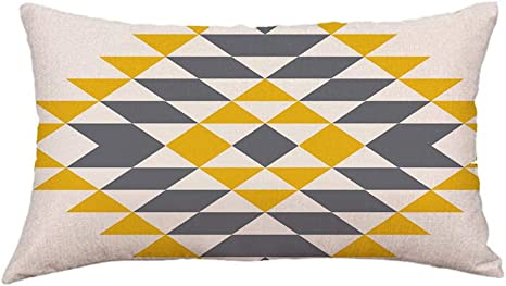 Rectangular Short Plush Cushion Cover Throw Pillow Case Home Office Bed Decor