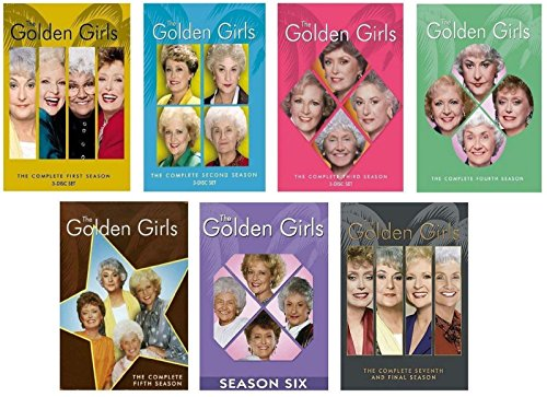 (GOLDEN GIRLS Seasons 1-7 The Complete Series Collection Season 1 2 3 4 5 6 7)