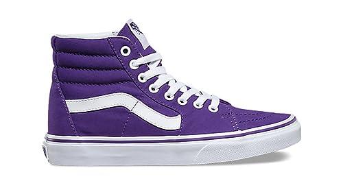 4694d92fc4294 Image Unavailable. Image not available for. Colour: Vans SK8-Hi Canvas  Imperial Purple Skate Shoes