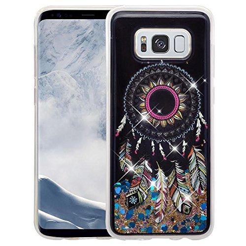 SOGA Samsung Galaxy S8 Plus Case, [Moving Sand Liquid Interior] Shine Bling Sparkling Glitter TPU Bumper Cover Slim Protector Case for Samsung Galaxy S8 Plus [Drop Protection] - Dream Catcher