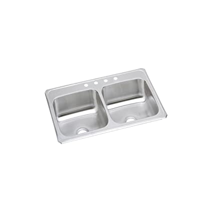 elkay celebrity cr43224 equal double bowl top mount stainless steel rh amazon com