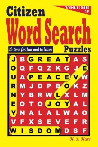 Citizen Word Search Puzzles (Volume 3) pdf epub
