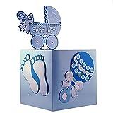 Baby : Adorox Blue Girl Baby Shower Wishing Well Card Box Decoration Cute Pretty Keepsake Carriage Rattle