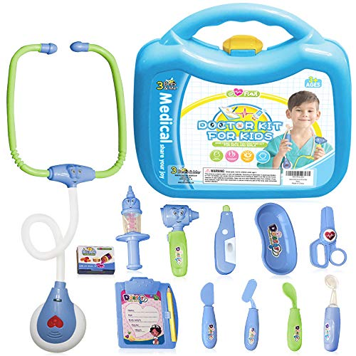 3 Bees & Me Doctor Kit for Kids - Toy Doctor Kit with Stethoscope That Beats - for Age 3 and up -