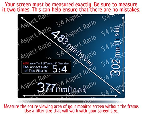 19 Inch - 5:4 Aspect Ratio Computer Privacy Screen Filter for SQUARE Computer Monitor - Anti-Glare - Anti-Scratch Protector Film for Data Confidentiality - PLEASE MEASURE CAREFULLY! by VINTEZ (Image #1)
