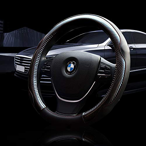 Car Steering Wheel Cover,Microfiber Leather Wheel Covers,Soft Padding&Breathable Steering Bra,Anti-slip Car Wheel Protector,Smelless Steering Covers,Auto Car Steering Wheel Cover Universal 15 inch ()