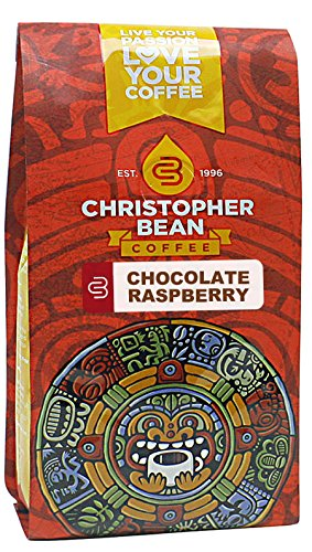 Christopher Bean Coffee Flavored Whole Bean Coffee, Chocolate Raspberry, 12 Ounce (Chocolate Coffee Beans Whole compare prices)
