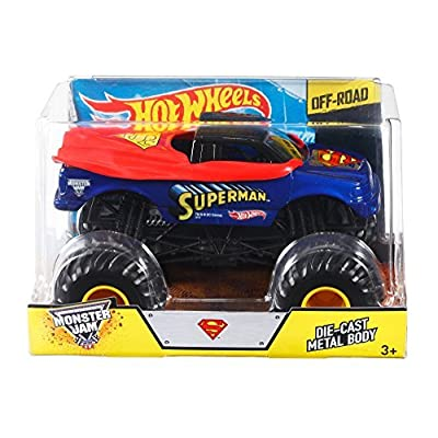 Hot Wheels Monster Jam Superman Die-Cast Vehicle, 1:24 Scale: Toys & Games