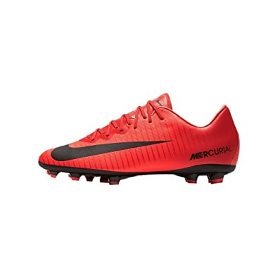 meet cb767 66d0f Amazon.com   Nike Jr Mercurial Vapor XI FG Red Orange 3.5Y   Soccer