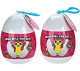 """Hatchimals Clip-On, With Sound, With Egg, 2-Pack, 3.5"""" (Styles & Colors Vary) by Wish Factory"""