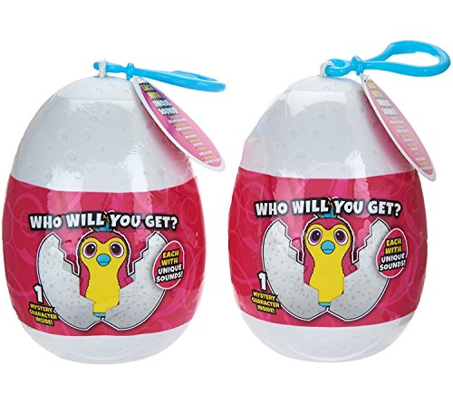 "Hatchimals Keychain, Backpack Clip: 2-Pack, 3.5"" (Styles & Colors Vary) by Wish Factory"