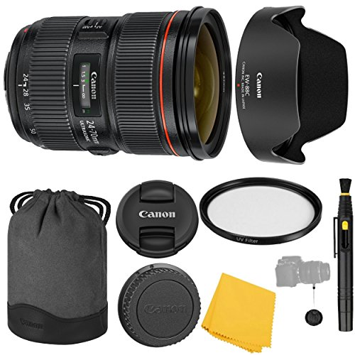 Canon EF 24-70mm f/2.8L II USM Lens + UV Filter + Canon EW-88C Lens Hood + Canon LP1219 + Lens Cap Keeper + 24-70mm II f/2.8 L USM Lens - International Version (No Warranty)