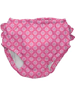 Swim Diaper,Infant / 12 Months,Hot Pink Geo