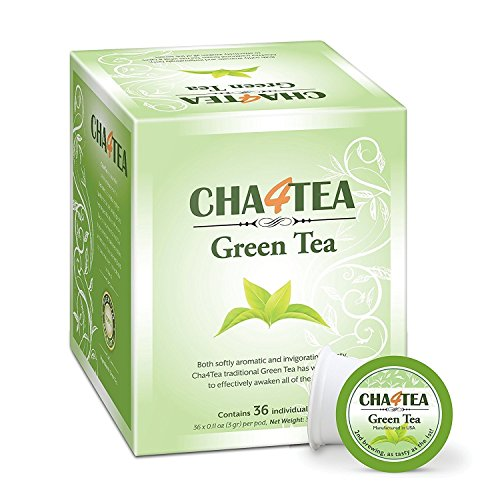 Cha4TEA 36-Count Green Tea K Cups for Keurig K-Cup