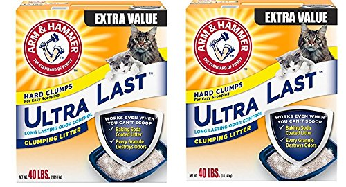 2 Pack(40-lb) Arm and Hammer Ultra Last Litter, 2 Pack(40 Lbs)