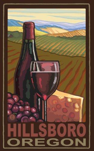 Northwest Art Mall Hillsboro Oregon Wine and Cheese Poster, 11-Inch by - Hillsboro Mall