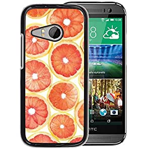 Planetar® ( Orange Grapefruit Pattern Fruit ) HTC ONE MINI 2 / M8 MINI Fundas Cover Cubre Hard Case Cover