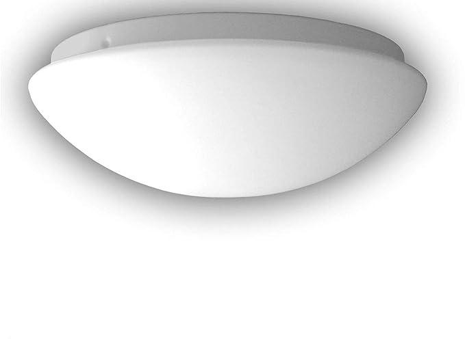 Plafoniera Led Da Soffitto : Lampada a led da soffitto plafoniera rotonda Ø20 cm in vetro opale
