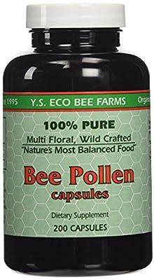 YS Organics Bee Pollen - 200 capsules