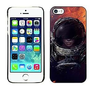 PC/Aluminum Funda Carcasa protectora para Apple Iphone 5 / 5S Space Trave Suit Woman Sexy Cosmos Space / JUSTGO PHONE PROTECTOR