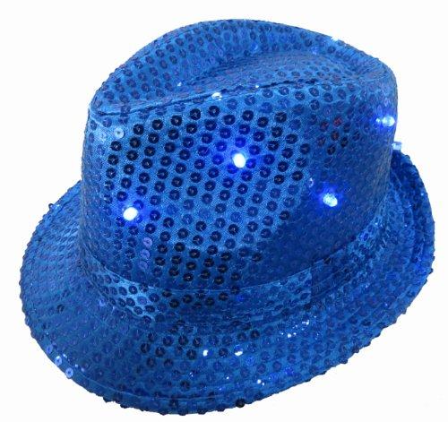 WeGlow International Light Up Sequin Fedora Hat, - Pharrell Costume Hat