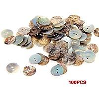 SODIAL(R) Set de 100 Botones de Nacar Redondo