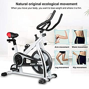 Enow Indoor Cycling Bike, Professional Stationary Exercise Gym Belt Drive Bicycle Equipment for 280lbs, with LCD Monitor, High Weight Capacity, Heavy Duty Flywheel, for Home Cardio Gym Workout