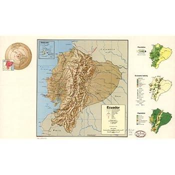Map Poster - Ecuador. - 24