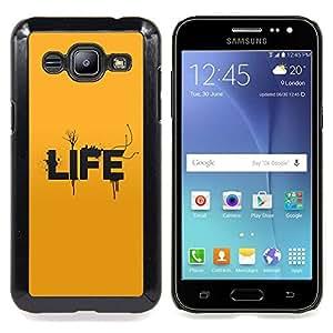 SKCASE Center / Funda Carcasa protectora - Tipografía Vida;;;;;;;; - Samsung Galaxy J2 / J200