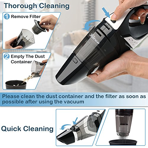 Cleaner with 12-Volt Power, Steel HEPA Filter with a Carry Bag