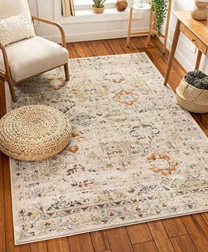 Well Woven Kellie Cream Vintage Oriental Pattern Area Rug 8×11 7 10 x 10 6