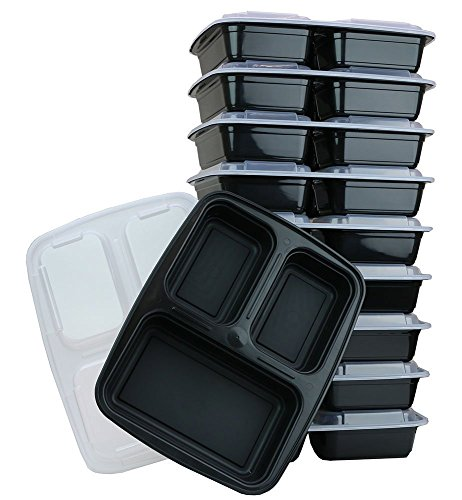 All 4 You 3 Compartment Microwavable Food Container with Lid (10) (And 1 Pot Holder) (Pot Lid 10 3 4 compare prices)