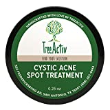 Clay Mask Glamglow TreeActiv Cystic Acne Spot Treatment, Best Extra Strength Fast Acting Formula for Clearing Severe Acne from Face and Body, Gentle Enough for Sensitive Skin, Adults, Teens, Men, Women (0.25 Ounce)