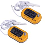 AODE® (2-Pack, Yellow) Digital Aquarium Thermometers Fish Tank Thermometer 600011