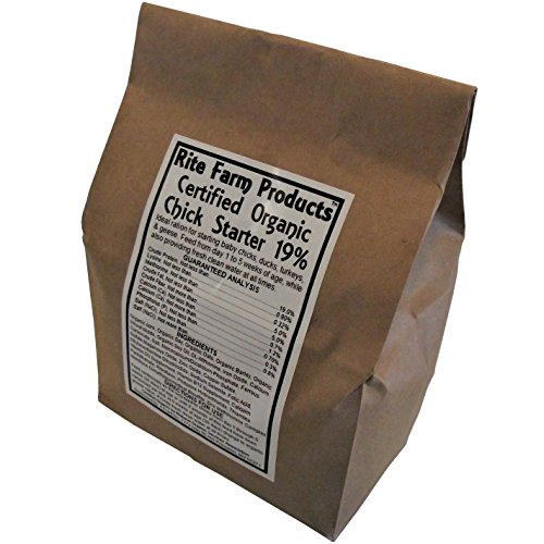 RITE FARM PRODUCTS CERTIFIED ORGANIC 5# CHICK STARTER FEED NON MEDICATED CHICKEN (Organic Feed)