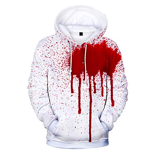 (3D Halloween Hoodie Women Men Hooded Sweatshirts Pullover Tops Plus Size Christmas Clothes Color 10)