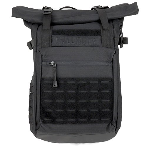 Armycrew Call of Duty Military Roll Top Backpack - BLACK (Call Of Duty Modern Warfare Pegi Rating)