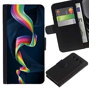 [Neutron-Star] Modelo colorido cuero de la carpeta del tirón del caso cubierta piel Holster Funda protecció Para Samsung Galaxy S3 III i9300 i747 [Colorful Spiral]