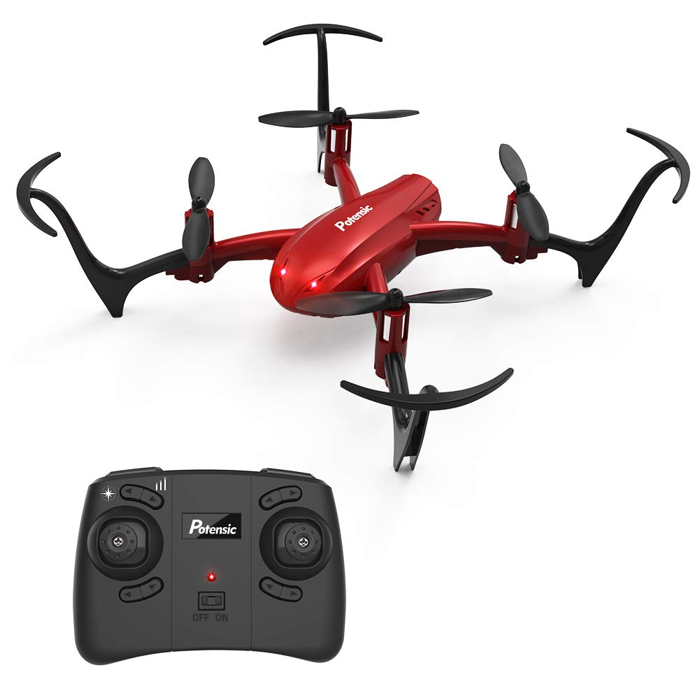 Potensic Mini Drone D10 RC Quadcopter 2.4G 6 Axis with Altitude Hold Function,360° Flip, Headless Mode for Beginners&Kids