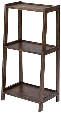 AGWa Estantes de madera maciza escalera estantería de almacenamiento estrecho flor estante de madera Planta Plataforma Blu-ray DVD Medios de almacenamiento,color nogal: Amazon.es: Bricolaje y herramientas