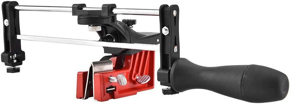Afilador de cadena manual montado en barra, herramienta de guía de llenado de cadena de sierra de motosierra, no es necesario quitar la cadena y garantiza un llenado uniforme