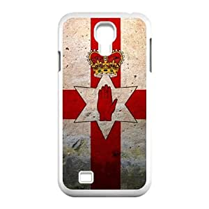 grunge flag of northern ireland Samsung Galaxy S4 9500 Cell Phone Case White xlb2-067463