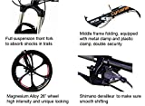 Cyrusher FR100 Mens Full Suspenion 24 Speeds Folding Mountain Bike with 17-Inch X 26-Inch Aluminium Frame Disc Brake, Black (26-Inch)