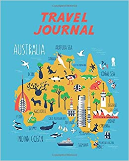 Australia Travel Map.Travel Journal Kid S Travel Journal Map Of Australia